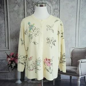 White Stag Women's Sweater Cream Plus Size 16/18